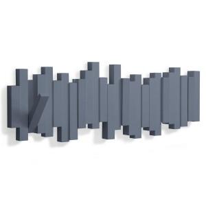 Portemanteau mural gris bleu Sticks Umbra