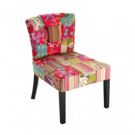 fauteuil sans accoudoirs patchwork fleuri versa. Black Bedroom Furniture Sets. Home Design Ideas
