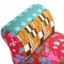 banquette avec bras tissu patchwork multicolore versa