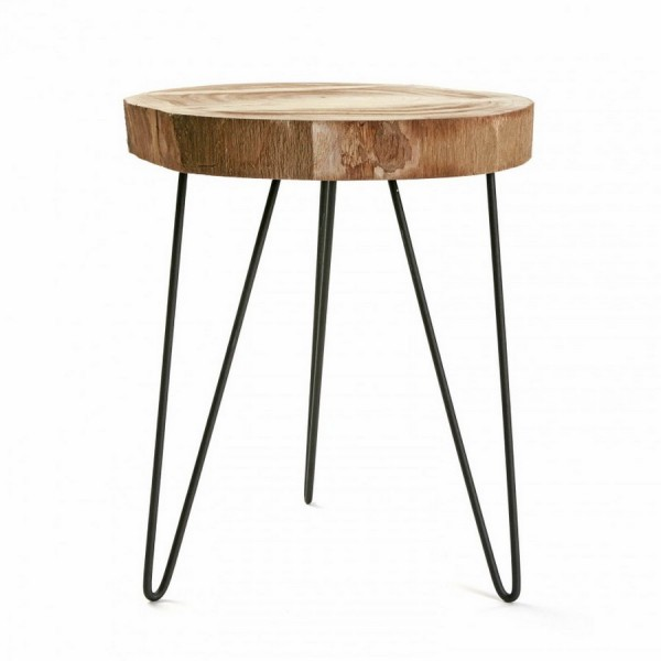 bien tabouret rondin de bois 7 tabouret rondin bois brut pieds en m tal noir versa tree. Black Bedroom Furniture Sets. Home Design Ideas