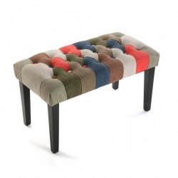 banc de lit multicolore canvas versa
