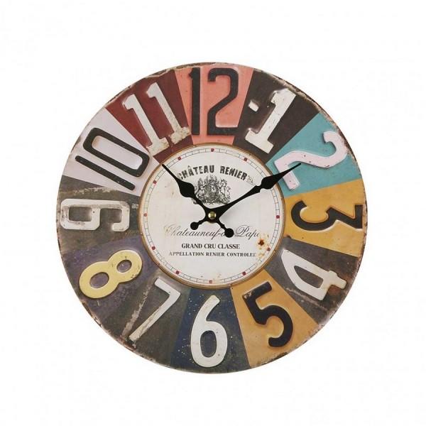 Horloge murale style industriel en metal versa - Horloge type industriel ...