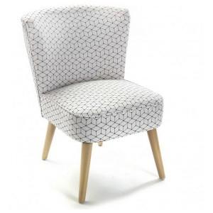 fauteuil bas sans accoudoirs design scandinave versa rhombuses