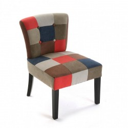 Chaise fauteuil tissu patchwork canvas Versa