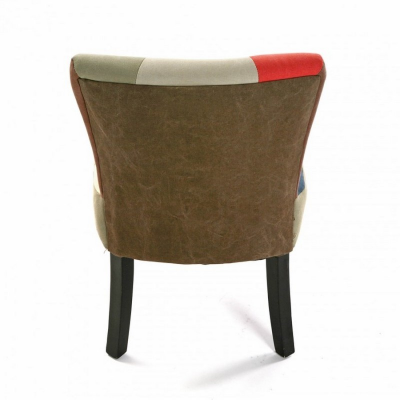 Chaise fauteuil tissu patchwork canvas versa for Chaise fauteuil