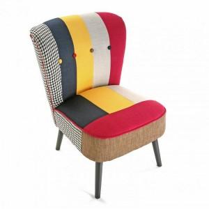 fauteuil design multicolore solid patchwork versa