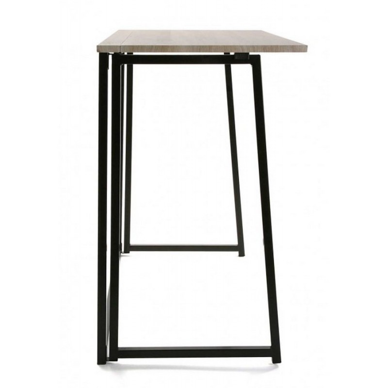 table de bureau pliante bois metal noir versa. Black Bedroom Furniture Sets. Home Design Ideas