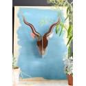 decoration murale en carton tete d antilope studio roof TTM47
