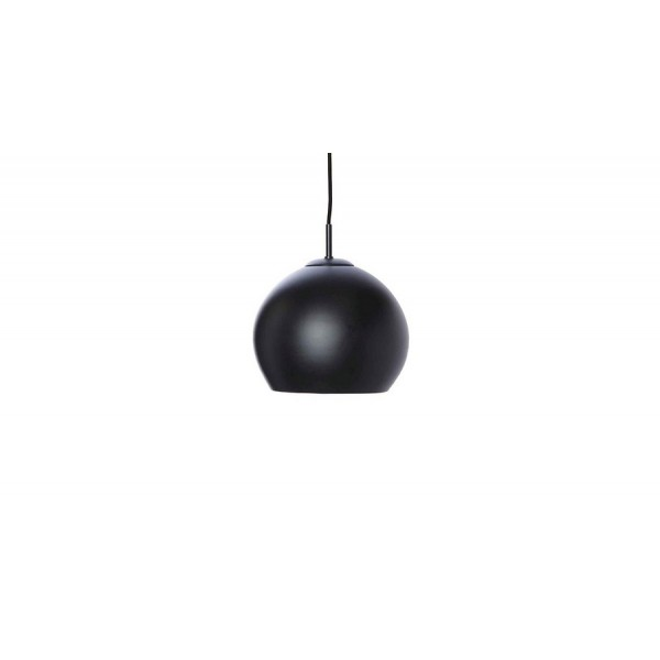 Suspension design boule noir mat frandsen ball d 25 cm for Suspension boule noire
