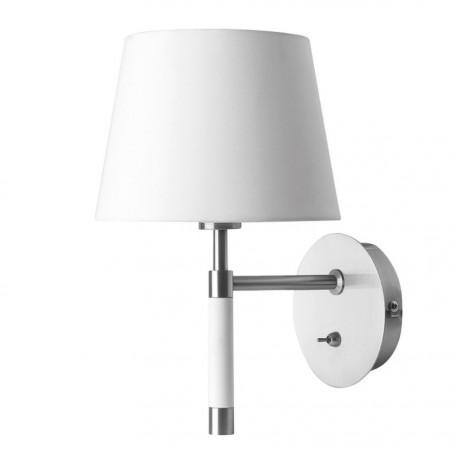 applique murale abat jour blanc metal chrome frandsen venice. Black Bedroom Furniture Sets. Home Design Ideas
