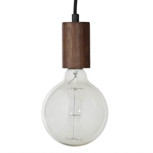 Suspension design ampoule bois noyer Frandsen Bristol