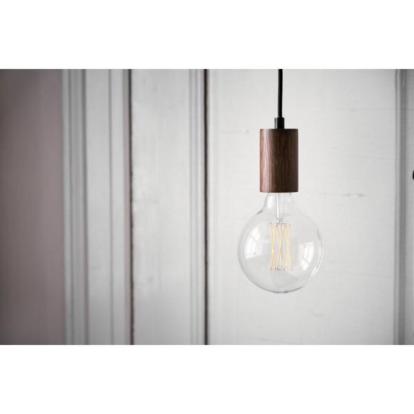 suspension design ampoule bois noyer frandsen bristol 14846205001. Black Bedroom Furniture Sets. Home Design Ideas