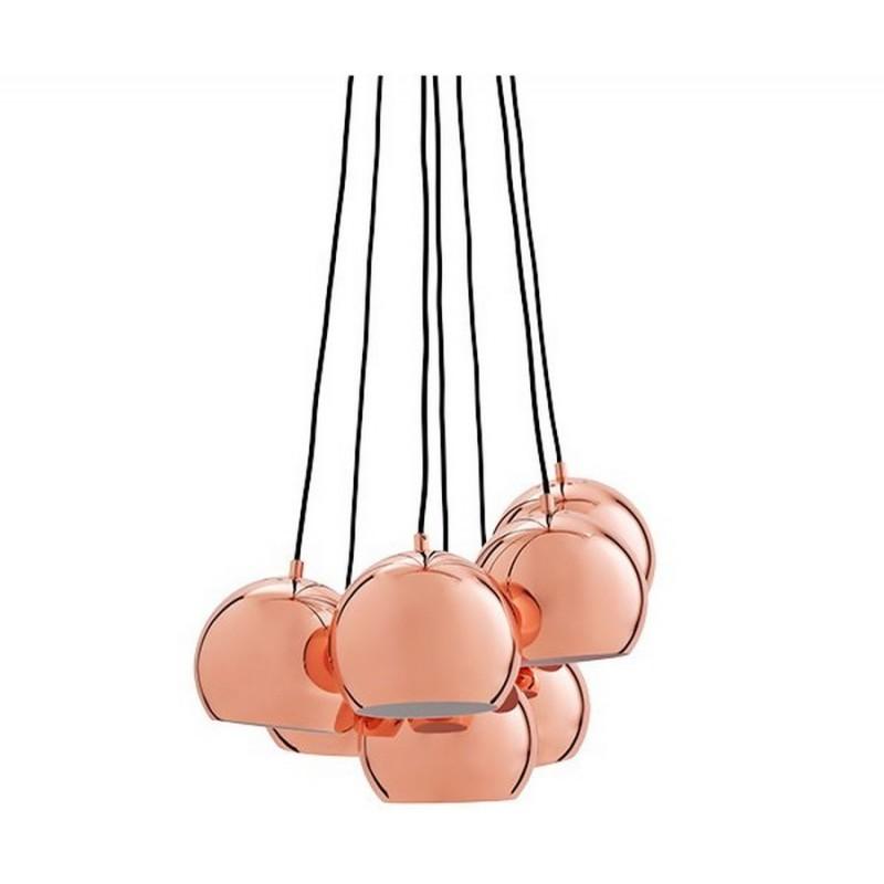 Suspension boule multiple cuivre frandsen multi ball 14232105001 for Luminaire multi suspension colore enfant