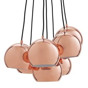 suspension boule multiple cuivre frandsen multi ball 14232105001