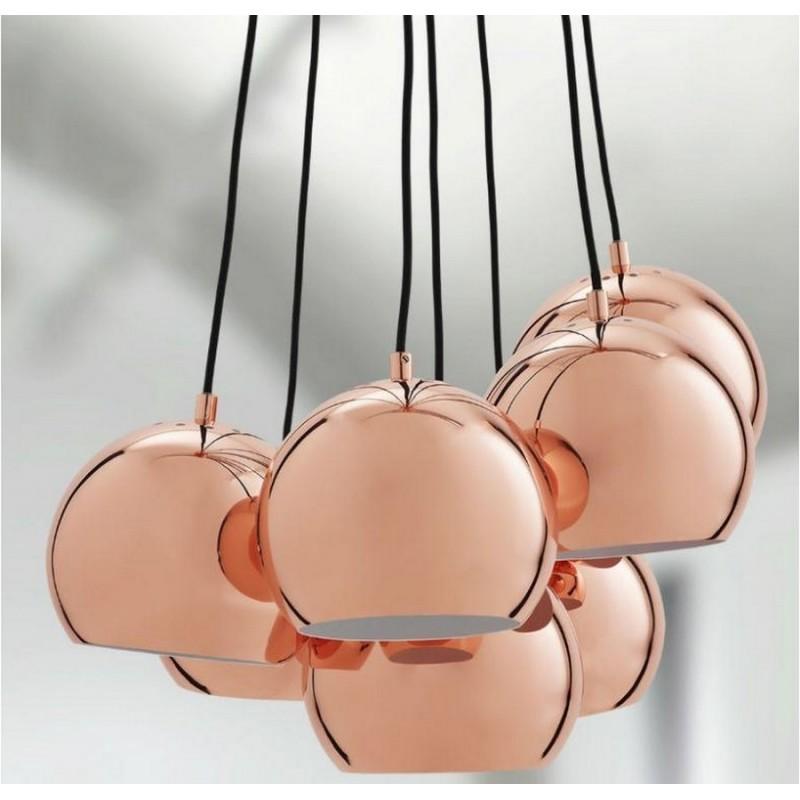 suspension boule multiple cuivre frandsen multi ball. Black Bedroom Furniture Sets. Home Design Ideas