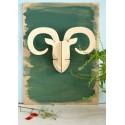 Décoration murale tête de mouflon en bois naturel Studio Roof