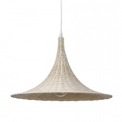 hk living lampe suspension en osier naturel trumpet D 50 cm