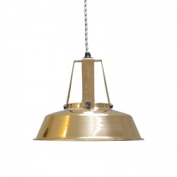Lampe suspension industrielle HK Living Workshop laiton D 29.5 cm