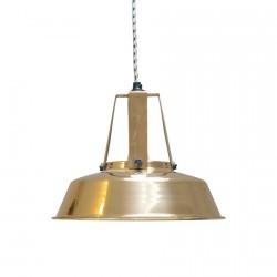 Lampe suspension industrielle HK Living Workshop laiton D 29.5 cm