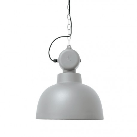 Lampe suspension HK Living Factory gris clair mat D 40 cm
