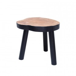 hk living table d appoint bois brut noir MTA2006