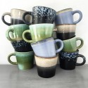 hk living tasses a cafe ceramique 70 s set de 4 CER0053