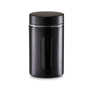 Bocal de conservation design métal noir et verre Zeller 900 ml