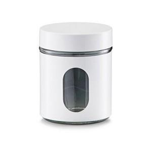 bocal de cuisine blanc design zeller 19790