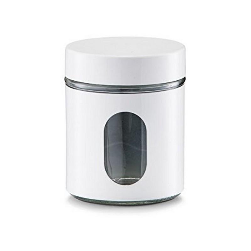 Bocal de cuisine blanc design zeller 19790 - Bocal rangement cuisine ...
