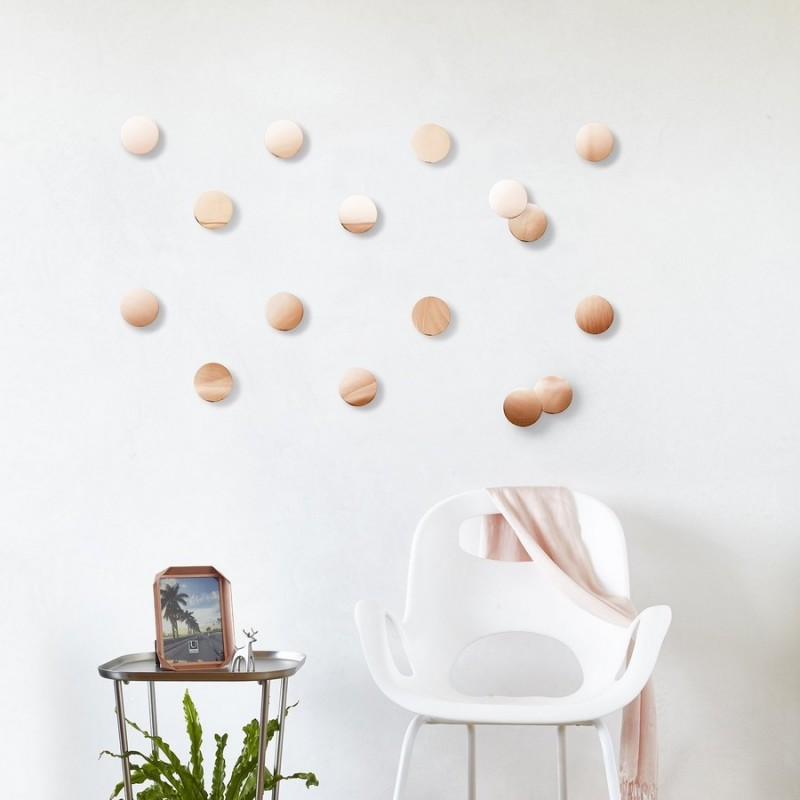 Umbra decoration murale cuivre confetti dots 1004368 880