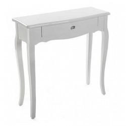 Table console style classique bois blanc Versa
