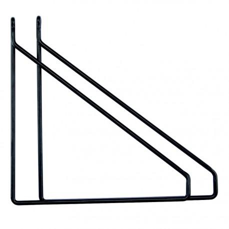 Équerres pour tablette House Doctor Apart métal noire (set de 2)