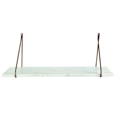 Tablette en marbre blanc pour étagère House Doctor
