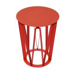 Table d'appoint Arlette Presse Citron tôle laquée rouge