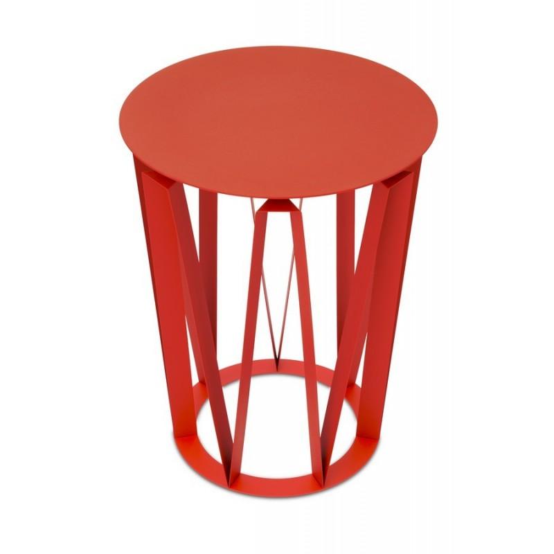 presse citron table d appoint arlette tole laquee rouge. Black Bedroom Furniture Sets. Home Design Ideas