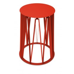 table d appoint tole laquée presse citron achille rouge