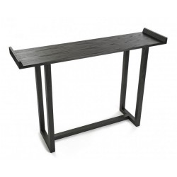 table d entree console bois noir versa elgin