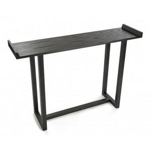Table d'entrée console bois noir Versa Elgin