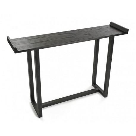 table d entree console bois noir versa elgin