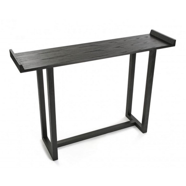 Table d entree console bois noir versa elgin kdesign for Table bois noir