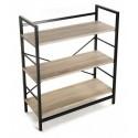 etagere bois structure metal noir 3 niveaux versa 20880012
