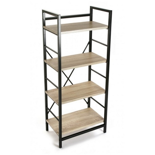 etagere metal noir bois 4 niveaux versa 20880011. Black Bedroom Furniture Sets. Home Design Ideas