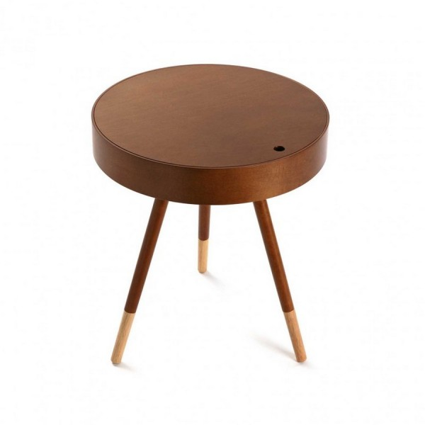 Table d appoint ronde bois noyer versa prato 18790685 for Table ronde d appoint