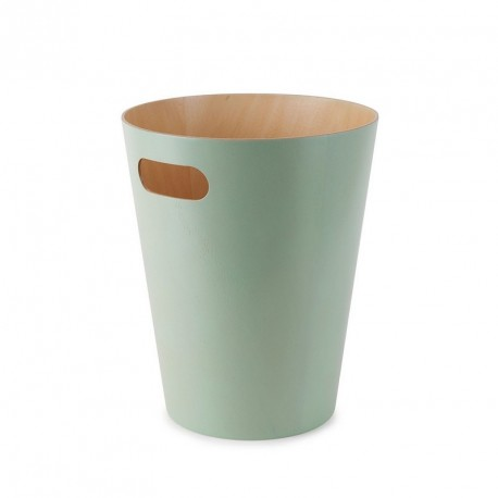 poubelle en bois umbra woodrow vert menthe 082780-473