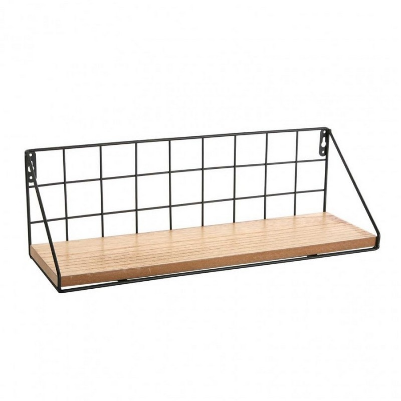 etagere murale metal grillage et bois versa 21310016. Black Bedroom Furniture Sets. Home Design Ideas