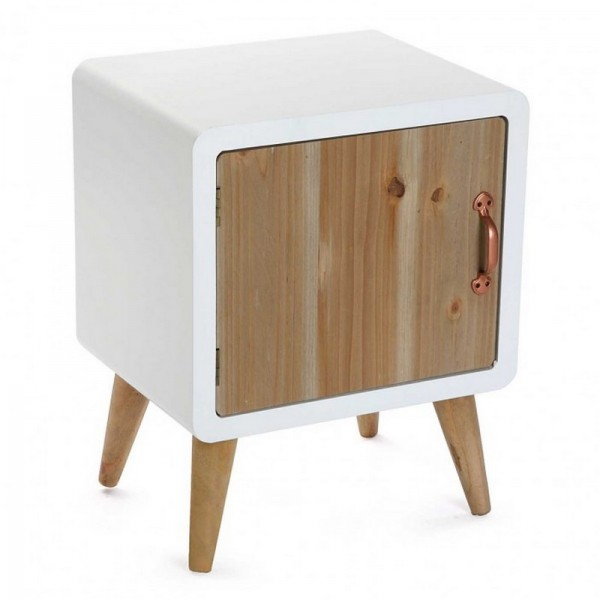 Table de chevet scandinave bois et bois blanc versa - Table de chevet bois blanc ...