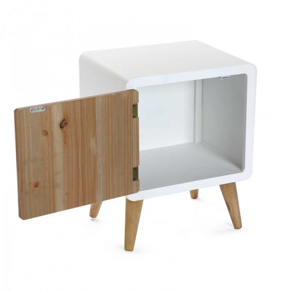 Table de chevet scandinave bois et bois blanc versa treveris 21120020 - Table de chevet bois blanc ...