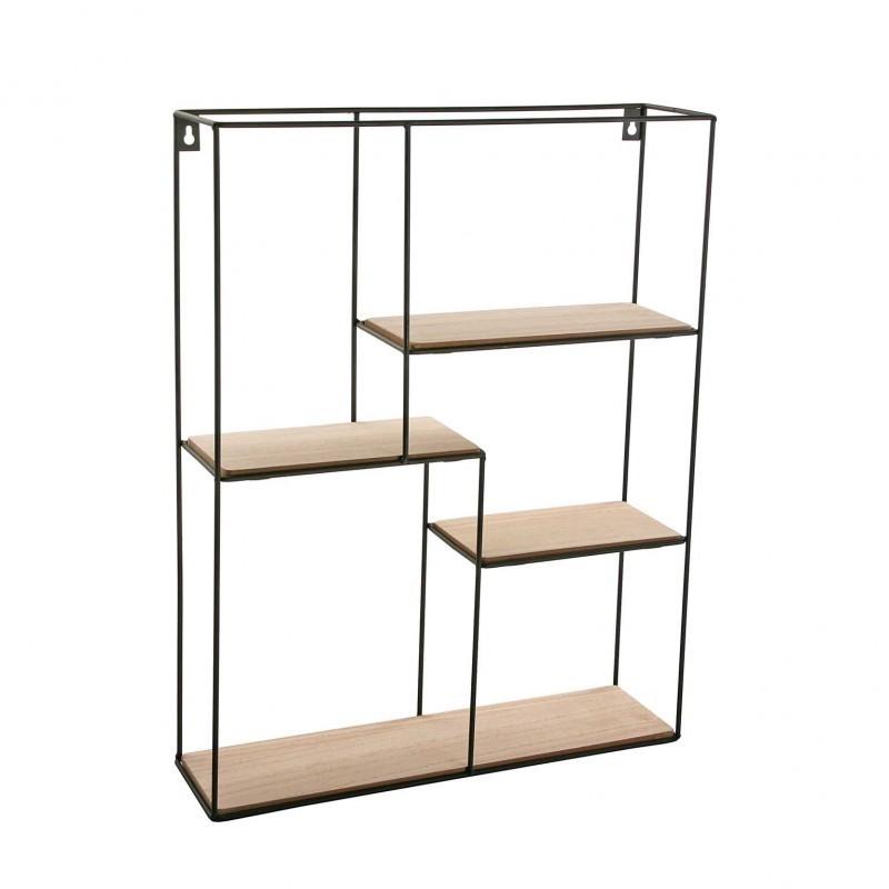 etagere bois noir. Black Bedroom Furniture Sets. Home Design Ideas