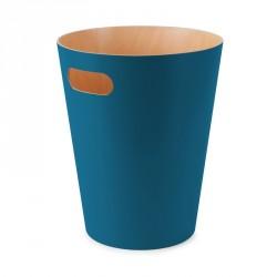 Poubelle en bois Umbra Woodrow bleu canard