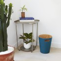 poubelle en bois umbra woodrow bleu canard 082780-635